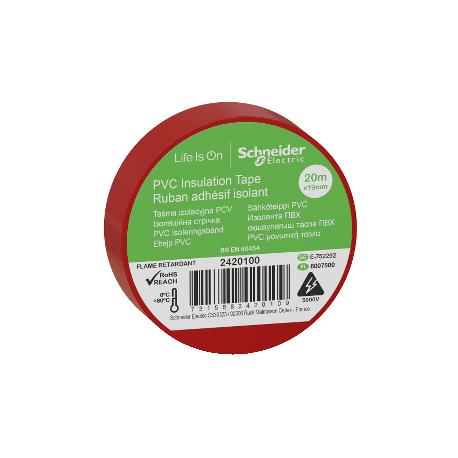 Ruban adhésif isolant rouge - 19mm x 20m (vendu par 10)