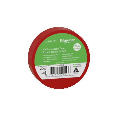 Ruban adhésif isolant rouge - 19mm x 33m (vendu par 10)