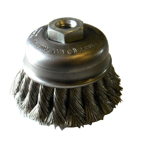Cup brush Osborn Ø90x65xM14 steel wire size 0.35