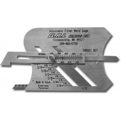 GAL adjustable fillet welging gauge metric