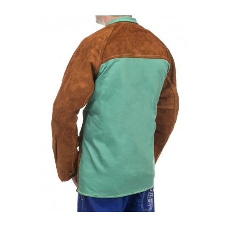 Weldas high quality welder leather jacket with propan back