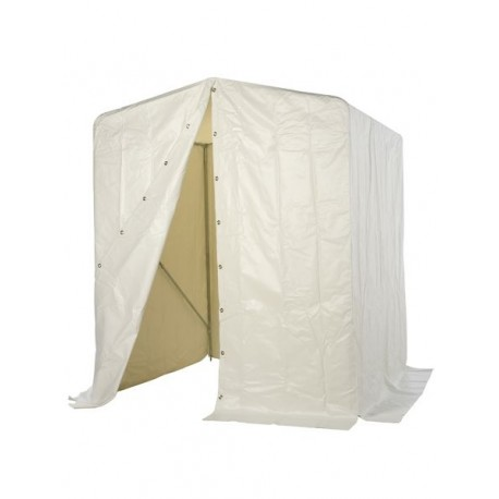 Welder's shelter 2x2x2m in matt white PVC
