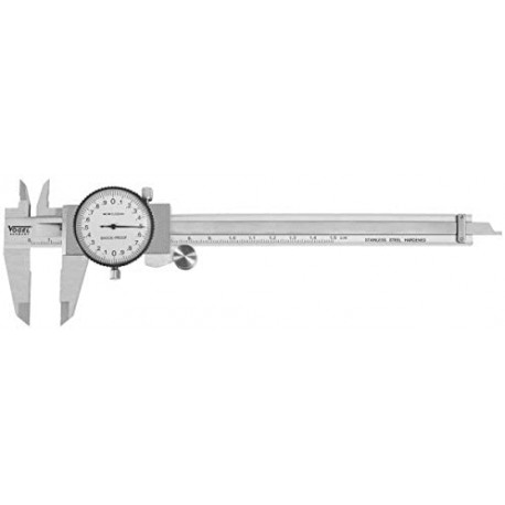 Precision stainless steel dial caliper 150 mm 2/100 - DIN 862