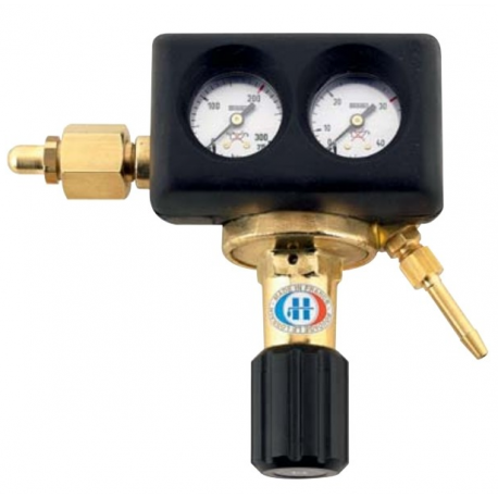 Pressure reducer with Flowmeter 0-20L