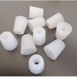 Bouchon silicone conique percé 14-18mm