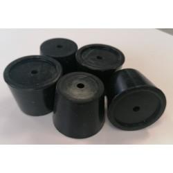 Bouchon silicone conique percé 32-38mm