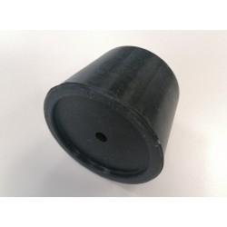 Bouchon silicone conique percé 50-60 mm