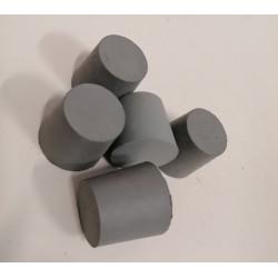 Bouchon caoutchouc conique percé 31-38mm